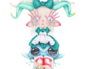 Pan labyrinth Guillermo del Toro pop surrealism movie art print