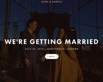 Wedding Website - Custom & Complete!
