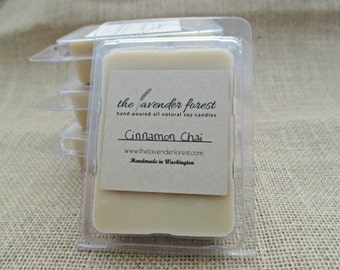 cinnamon chai // hand-poured soy wax melt tarts // natural soy wax // highly scented