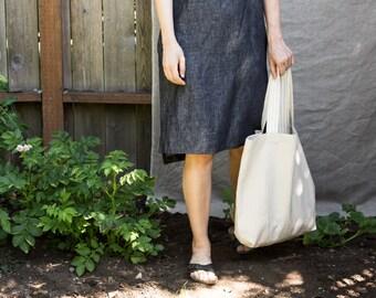 Handmade Summer Linen market tote