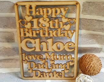 Birthday Plaque. Special Birthday Plaque, 18th Birthday, 21st Birthday, Birthdays, Handmade Birthday Plaque