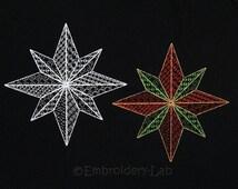Christmas Star 0002 Set - digital designs for embroidery machine