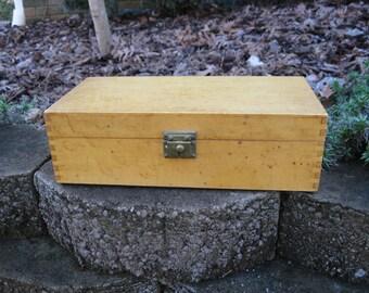 Vintage Bird's Eye Maple Wood Box