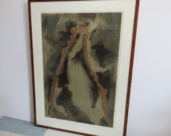 Signed Post Abstract Mid-Century Modern Lithograph Signed Numbered And Dated.