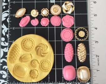 Silicone Buttons Fondant Cake Decorating mold