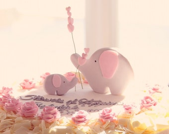 Edible Fondant Elephant Cake Topper PERFECT for a Baby Shower or a Birthday for boys and girls