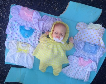 Sleepy Eye UNEEDA Soft Bodied Baby Doll, 7 Outfits, Original Packaging