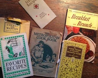 6 Vintage RECIPE BOOKs Pre WWII