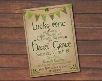 First Birthday // St. Patrick's Day Party