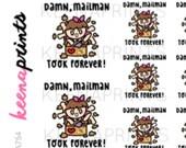 A754 | MAILMAN TOOK Forever Keenachi Stickers Perfect for Erin Condren Life Planner, Filofax, Plum Paper, scrapbooking