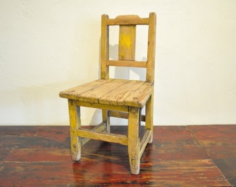 Small Antique Chair, Vintage Child's Chair, Chinese Chair