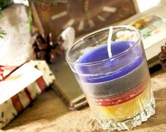 Unique Candle Glass, Handmade candles - Ideal Gift  For A Housewarming Party – Adds Color To A Romantic Candlelight Dinner, Themed Birthday
