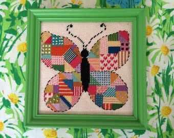 Cross Stitch Embroidery Patchwork Butterfly