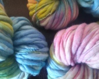 Hand spun & Hand dyed yarn - 100% New Zealand Merino Wool  120g