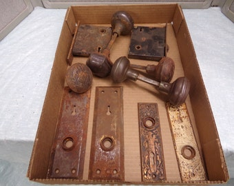 Misc. antique door Hardware.