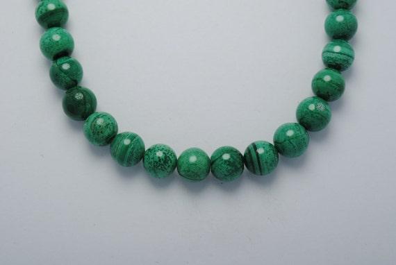 Malachite pearl necklace vintage