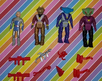 Vintage lot of Tyco Dino Rider Figures and Accessories (Lot 4)