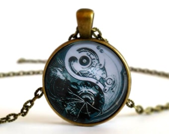 Yin Yang - Harmony and Balance - Cabochon Picture Necklace Pendant