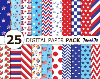 4th of July Digital Papers,Independence Day Digital Papers fourth of july background,Red and Blue Digital Paper,american,digital backgrounds