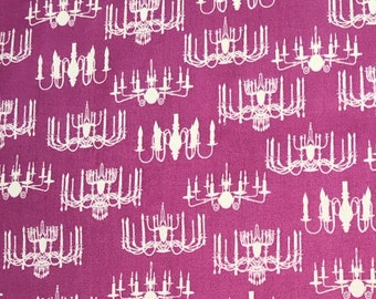 Vintage chandelier Cotton fabric . 100% cotton 1 yard