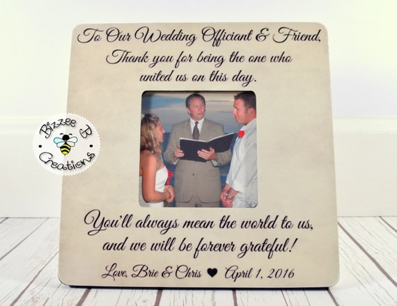 Wedding Officiant Gift, Friend & Wedding Officiant, Wedding Thank You ...