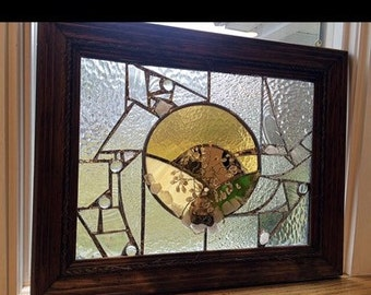 """Stained Glass Wall Hanging """"Imagine"""""""