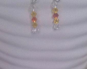 Bicone Crystal beaded Earrings