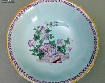 """Adams-Wedgwood Group- Metz Calyx 6"""" Bowl Replacement China Vintage Oriental Design - Versatile Uses Cereal-Salad- Fruit-or Ice Cream"""
