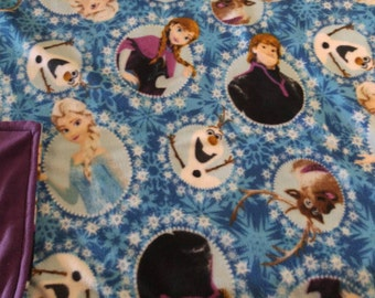Frozen fleece with purple back