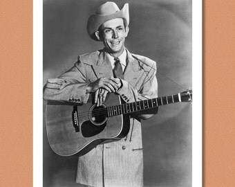 HANK WILLIAMS - Portrait, 1951 - Country, Western, Honky-Tonk -- Giclée/Photo print
