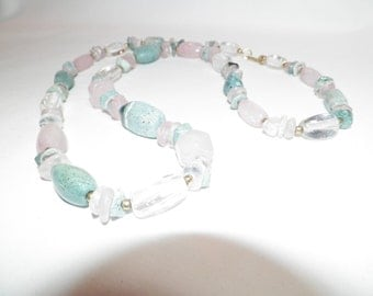 Pastel Polished Agate Necklace