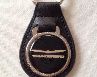 Ford Thunderbird Keychain Genuine Leather Ford Key Chain