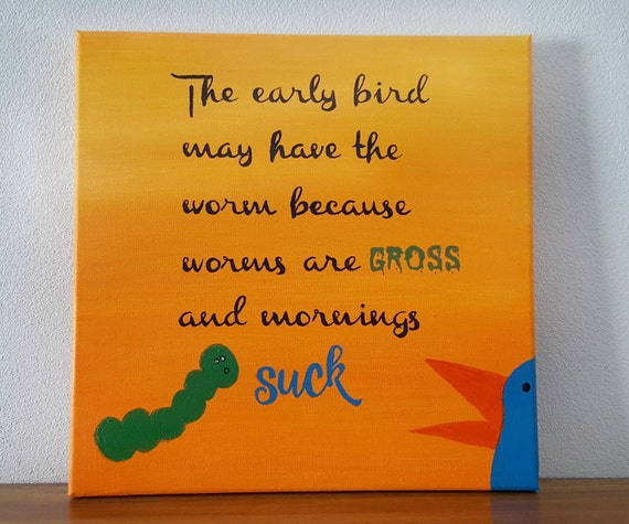 Funny Kitchen Decor Early Bird Kitchen Decor By