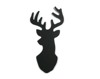 Large Deer Bust Cut Out Set of 25