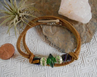 Roach Clip Jewelry/Multi Functional Smoking Accessory/Leather Beaded Necklace/Bracelet/Hair Clip/Hair Jewelry/Marijuana/Weed/Pot/Dope