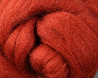 Nutmeg Corriedale Wool Roving One Ounce for Felting and Spinning