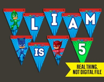 PJ Masks Banner - PJ Masks Birthday Banner - Birthday Banner