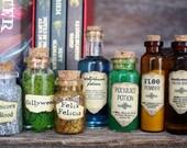 Harry Potter Potion Decoration or Christmas Ornaments - Bottle Potion Christmas Tree Ornaments - Great Harry Potter Fan Gift!