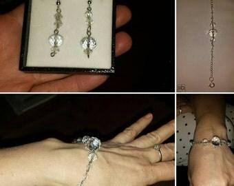 Beaded bracelet set, jewellery, bracelet, earings ,women's bracelet, women's accssessory, women's gift