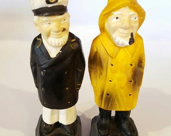 Cap'n Pepper and Old Salty Salt and Pepper Shakers