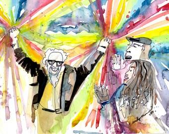 Bernie Rainbowhands PRINT