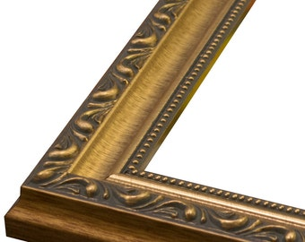 ornate antique gold scoop wtear drops frame 1 14 3x54x65x76x88x109x1211x1412x1614x1816x2018x2420x2420x3022x2824x30 24x36