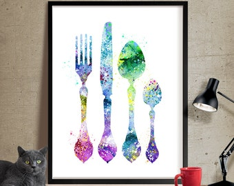 Shop u201cfork and spoon wall artu201d in Painting
