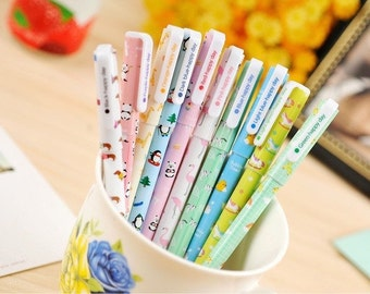 Set of Cute Animal Gel Pens