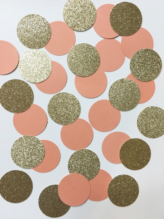 Coral+Peach & Gold confetti//table decorations, gold confetti, party decorations, party supplies,  birthday party, wedding, bachelorette