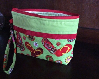 Large Wristlet or Cosmetic Bag
