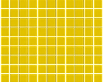 1-inch bright yellow glass tile (J1101)