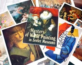Art postcards - Masterpiece print set - Vintage collectibles - Blank postcards - Postcard set - Famous art print set - Unused art postcards