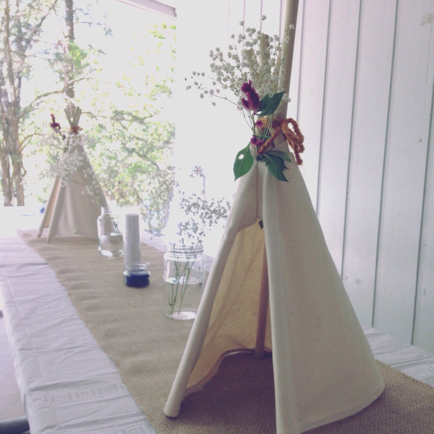 Birthday teepee camping boho themed party decor coachella for Baby shower fashion decoration
