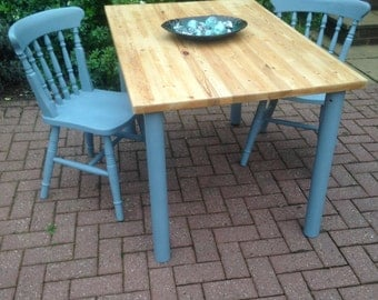 REDUCED!! Pine Farmhouse Table and 2 Chairs